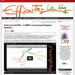Carte du lundi #25 - Le MBTI, un test psychologique atypique - Le blog Efficartes