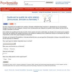 Test psychologique: Inventaire de qualité d'une relation