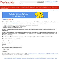 Test psychologique: Échelle d'orientations vers le bonheur
