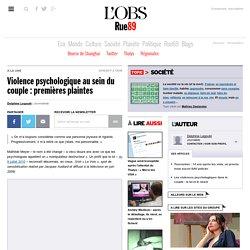 Violence psychologique au sein du couple: premières plaintes