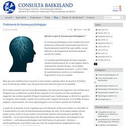 Traitement du trauma psychologique · Blog Psychanalyste à Madrid