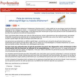 Test Questionnaire Alzheimer