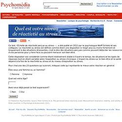 Test stress Échelle de réactivité perçue au stress