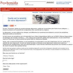 Test psychologique: L'inventaire rapide de symptomatologie dépressive (IRSD