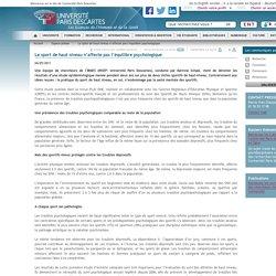 Le sport de haut niveau n'affecte pas l'équilibre psychologique / Espace presse / Accueil - Universite Paris Descartes