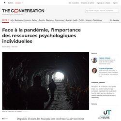 L'importance desressources psychologiques individuelles (face à la pandémie)