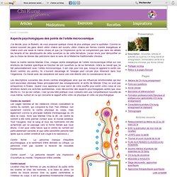 Aspects psychologiques des points de l'orbite microcosmique - Chi Kung Santé : exercices, recettes, méditation et médecine chinoise