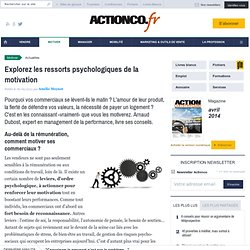 Explorez les ressorts psychologiques de la motivation