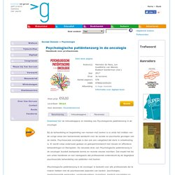Psychologische patiëntenzorg in de oncologie. Handboek voor de professional.