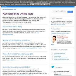 Psychologische Online-Tests