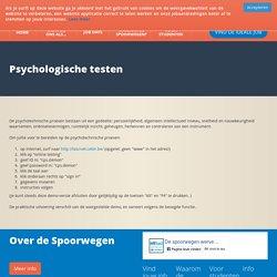 Psychologische testen - De Spoorwegen werven aan