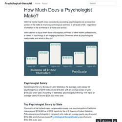 How Much Does a Psychologist Make? - Psychological-therapist