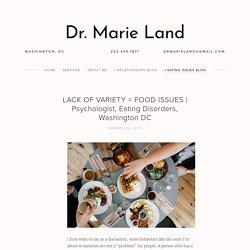 Psychologist, Eating Disorders, Washington DC — Dr. Marie Land