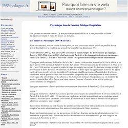 Exercice libéral psychologue titulaire contractuel de la FPH