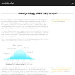 The Psychology of the Early Adopter - Saren Sakurai