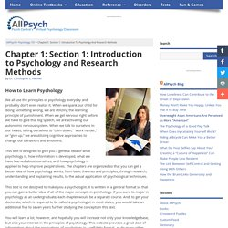 How to Learn Psychology in Psychology 101 at AllPsych Online
