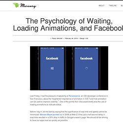The Psychology of Waiting, Loading Animations, and Facebook « Mercury Intermedia