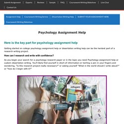 Psychology Online Writing Help