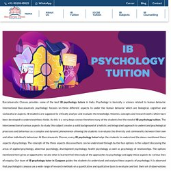 IB Psychology Tuition - Baccalaureate Classes