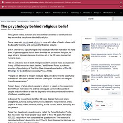 The psychology behind religious belief