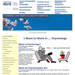 Psychology Careers
