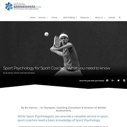 Sport Psychology for Sport Coaches: What you need to know