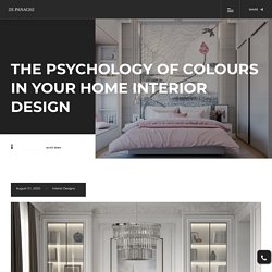 The psychology of colours in your home interior design