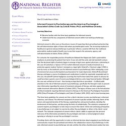 National Register of Health Service Providers in Psychology - Continuing Education Website