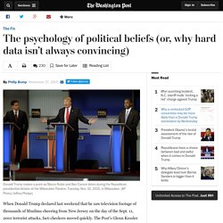 The psychology of political beliefs (or, why hard data isn't always convincing)
