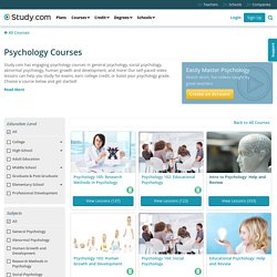 Psychology Courses - Online Classes with Videos
