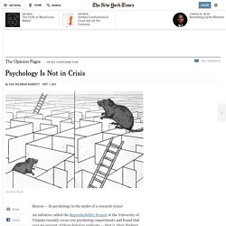 Psychology Is Not in Crisis