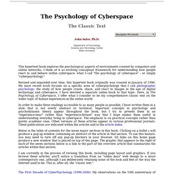The Psychology of Cyberspace - Home Page/Table of Contents