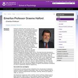 School of Psychology - Directory - People - Emeritus ProfessorGraemeHalford