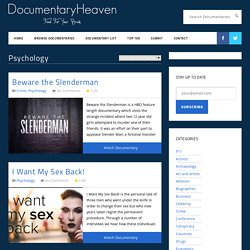 Psychology | Documentary Heaven | Watch Free Documentaries Online - StumbleUpon