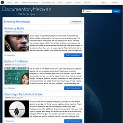 Psychology | Documentary Heaven | Watch Free Documentaries Online
