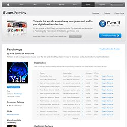 Psychology - Download free content from Yale University on iTunes