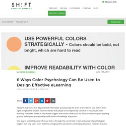 6 Ways Color Psychology Can Be Used to Design Effective eLearning