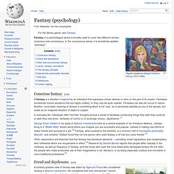 Fantasy (psychology)