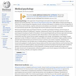 Medical psychology