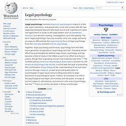 Legal psychology