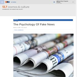 The Psychology Of Fake News : 13.7: Cosmos And Culture