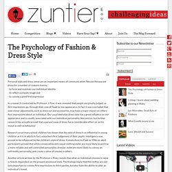 The Psychology of Fashion & Dress Style