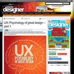 UX: Psychology of great design – part 1
