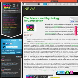 The Science and Psychology of Gamification