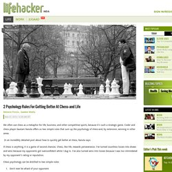 2 Psychology Rules for Getting Better at Chess