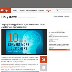10 psychology-based tips to convert more customers