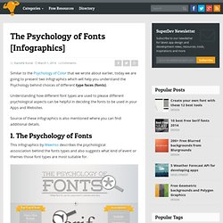 The Psychology of Fonts [Infographics] - Super Dev Resources