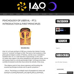 Psychology of Liber AL – pt.1: Introduction & First Principles