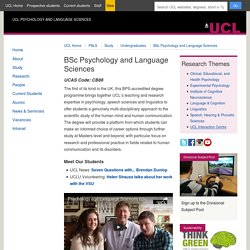 BSc Psychology and Language Sciences