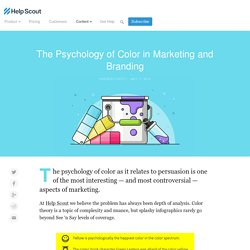 The Psychology of Color in Marketing and Branding – Help Scout – Medium